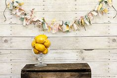 Learn how to make a Fabric Banner using scrap fabric, lace and twine. This is a fun and easy vintage inspired project too!
