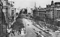 Calle Alcalá, hacia 1960..  Autor desconocido.