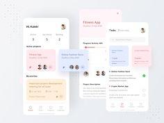 Mobile Ui Design, App Design, App Office, Fancy App, Task Manager, Business Pictures, Mobile Art, Layout, Apps