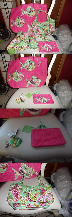 Mixed Items and Lots 15738: Vera Bradley Tutti Frutti Lot- Straw Tote, Hat, Pouch, Keychain, Purse -> BUY IT NOW ONLY: $122 on eBay!