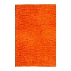 IKEA - TOFTBO, Bath mat, orange, 60x90 cm, , Ultra soft, absorbent and quick to dry since it's made of microfibre.
