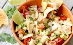 Young coconut takes the place of seafood in this traditional dish and it's an absolutely wonderful substitute. Plus, this dish is packed with crisp vegetables and a healthy dose of lime juice that makes it the utterly refreshing.