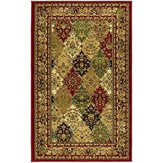 Safavieh Lyndhurst Collection LNH221B Multi and Red Area Rug 3 feet 3 inches by 5 feet 3 inches 33 x 53 *** Details can be found by clicking on the image. (This is an Amazon Affiliate link and I receive a commission for the sales)