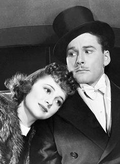 Olivia de Havilland & Errol Flynn in Four's a Crowd, 1938