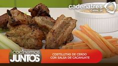 Costillas de cerdo con salsa de cacahuate