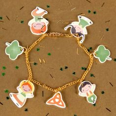 Its a Small World Shrink Charms - Ireland. Cute little charm bracelet to make with shrinky dinks. :)