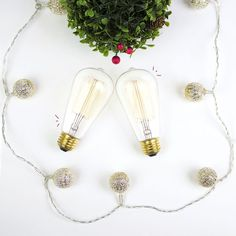 Kisses under the mistletoe are great, but there's more than one way to warm up your home this holiday season! The warm glow of Our Squirrel Cage Vintage Bulbs will give you that nostalgic old-time holiday feel you've been looking for. #edisonbulb #vintagedecor #homedecor