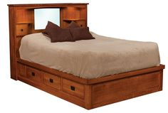 Captains Mission Bed - Amish Direct Furniture