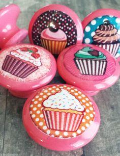 DOOR KNOBS fake cupcake set of 2 kitchen knobs drawer knobs ...