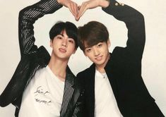 Jin and Jungkook Bts Kookie, Taehyung, Jungkook And Jin, Jungkook Oppa, Namjoon, Jikook, Rapper, Les Bts, Idol