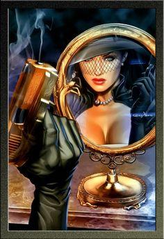 Image about sexy in Vintage,retro,pop art,pin-up,comics and digital art by Vanderléia Marvel Comics, Bd Comics, Comics Girls, Comic Book Artists, Comic Artist, Comic Books Art, Science Fiction, Pulp Fiction, Boris Vallejo