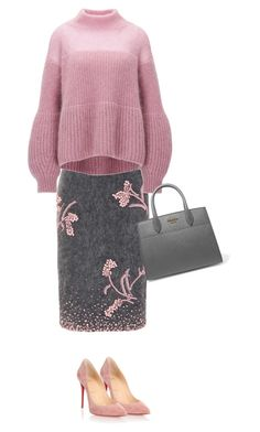 """Başlıksız #595"" by pamelyas on Polyvore featuring moda, Prada ve Christian Louboutin"