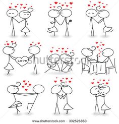 Stick Figure Valentine's Day