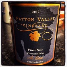 Nittany Epicurean: 2012 Patton Valley The Estate Pinot Noir
