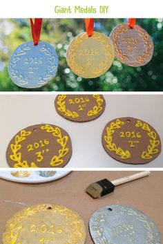 Giant Medals DIY. Create a set of your very own giant medals! To share the fun with my kids, we designed our very own medallions. They were delighted with the end results.