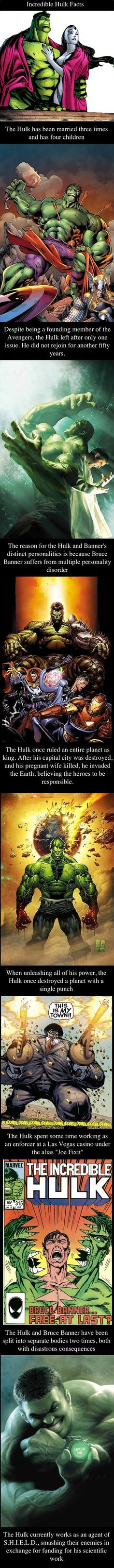 Incredible Hulk Facts.