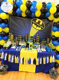 Resultado de imagen para KIDS TABLE BATMAN DECORATION