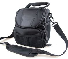 co2Crea(TM) Black Soft Nylon Digital Camera Case Bag Cover Pouch for Canon Powershot SX530 SX60 SX520 SX510 HS SX400 IS EOS Rebel Series DSLR with 18-55mm Lens kit -- More info could be found at the image url. (This is an Amazon Affiliate link and I receive a commission for the sales)