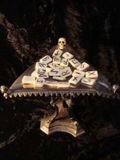 Bone Rune Set at Gothic Rose Antiques http://www.gothicroseantiques.com/BoneRuneSet.html