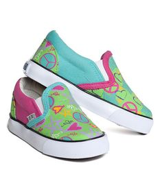 Pink & Blue Doodle Slip-On Sneaker by XOLO Shoes #zulily #zulilyfinds