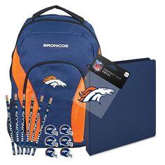 Denver Broncos NFL Back to School Essentials
