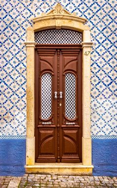 Door, Albufeira, Portugal by Rick McEvoy Grand Entrance, Entrance Doors, Doorway, Shut The Door, When One Door Closes, Old Doors, Windows And Doors, Albufeira Portugal, Portuguese Tiles