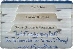 30 Second Mom - Kristen Yarker, MSc, RD: Tired of Throwing Away Food? This Tip Saves You Time, Stress & Money!