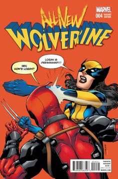 Marvel has been creating a lot of Deadpool variant covers which take on infamous Internet memes and All-New Wolverine #4 was one of the funniest ones this week, taking on the Batman slapping Robin meme.