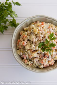 Olivye – Ukrainian Potato Salad. Traditionally served for the New Year in the Ukraine!