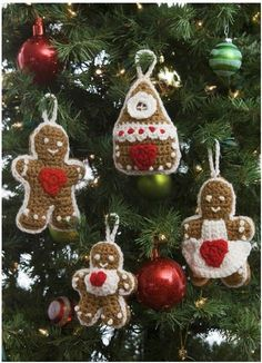 Gingerbread Crochet Ornaments - good enough to eat