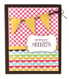 Sending You Smiles Card from the @Crafts Direct Card Chaos for Everyday Moments Event.