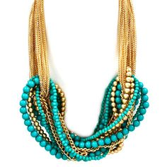 Pree Brulee - Orientalist Statement Necklace - Turquoise