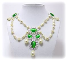 medieval jewelry | Medieval Necklace - Renaissance Jewelry - Medieval Jewelry - Pearl ...