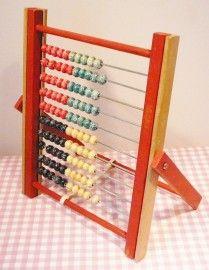 Oud houten telraam | Oud speelgoed / Vintage toys | Mies & Mas Vintage Toys & Kitchenware