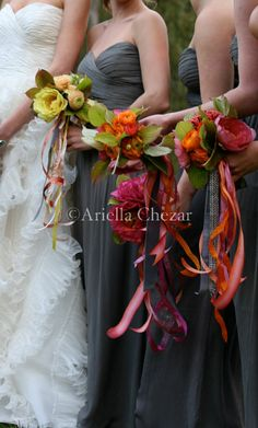 ribbons. Loving this def doing this, I have some Malibu bridesmaids coming up this will be awesome.