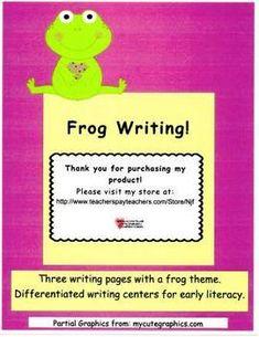 Early Literacy, Kindergarten Literacy, Frog Theme, Elementary Education, Classroom Activities, Teacher Pay Teachers, Student, Writing, Teaching