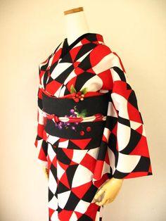 Mamechiyo Modern's wild patterned kimono-Love at first sight!