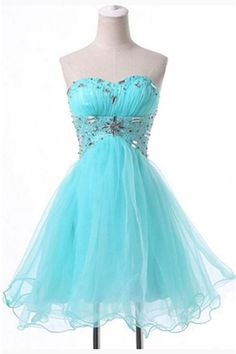 Lace Up Back Short Homecoming Dress,CHEAP NEW Homecoming Dresses Short Dress Pageant Beaded Prom Ball Evening Dress,blue Tulle Dress With Bead ,blue Short Homecoming Dress With Bead Backless Homecoming Dresses, Prom Dresses Blue, Pageant Dresses, Evening Dresses, Formal Dresses, Dresses Short, Sweet 16 Dresses, Pretty Dresses, Beautiful Dresses