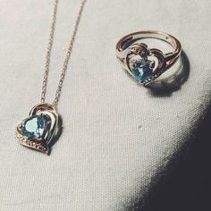 Silver stamped and blue topaz heart shaped matching necklace and ring. Ring is a size 7 and the set is absolutely gorgeous pictures don't do it justice. Zales Jewelry, Jewelry Rings, Arrow Necklace, Pendant Necklace, Shape Matching, Matching Necklaces, Blue Topaz, Heart Shapes, Silver Rings