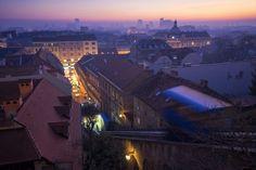 Zagreb - Sunset in Zagreb, Croatia, 2015,