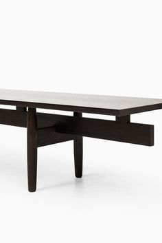 """Very rare """"Long Banc"""" bench in solid wengé designed by Ib Kofod-Larsen and produced in Denmark"""