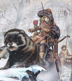 Wayne Reynoldsbusted out this cool halfling hunter riding a giant… er… mink?  For Wizards of the Coast