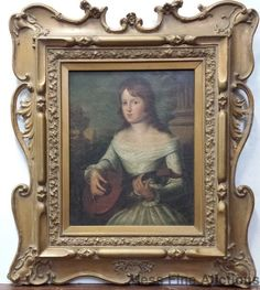 1850s Italian Renaissance Revival Music Portrait Painting Christie's Numbers…