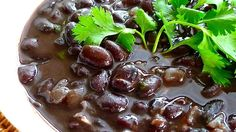 This simple black beans recipe works well with your favorite rice as a side dish for Mexican and Cuban meals.