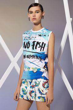 Kenzo Tank Top No Fish No Nothing - Kenzo Tshirts & Shirts Women - Kenzo E-shop