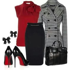 Love to get an outfit like this! classy and stylish work attire Mode Outfits, Fashion Outfits, Womens Fashion, Woman Outfits, Club Outfits, Office Outfits, Trendy Fashion, Jw Mode, Look 2015