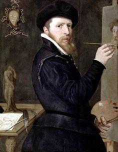Isaac Claesz van Swanenburg, Self-Portrait, 1568.  Stedelijk Museum De Lakenhal, Leiden
