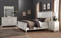 Discover the best coastal bedroom furniture sets, which includes matching coastal beds, beach dressers, coastal headboards, beach nightstands, and more. Wood Bedroom Furniture, Luxury Home Furniture, Coastal Furniture, Kitchen Furniture, 5 Piece Bedroom Set, Bedroom Sets, Furniture Styles, Furniture Ideas, Quality Furniture