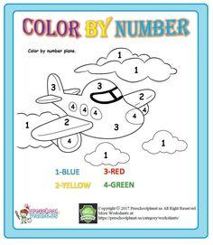color by number worksheet