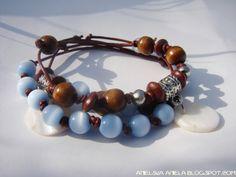 DIY tutorial leather bracelet ..bead..skórzane bransoletki..